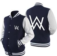 Alan Walker DJ hip hop rap fleece jacket winter thick unisex coat baseball jacket