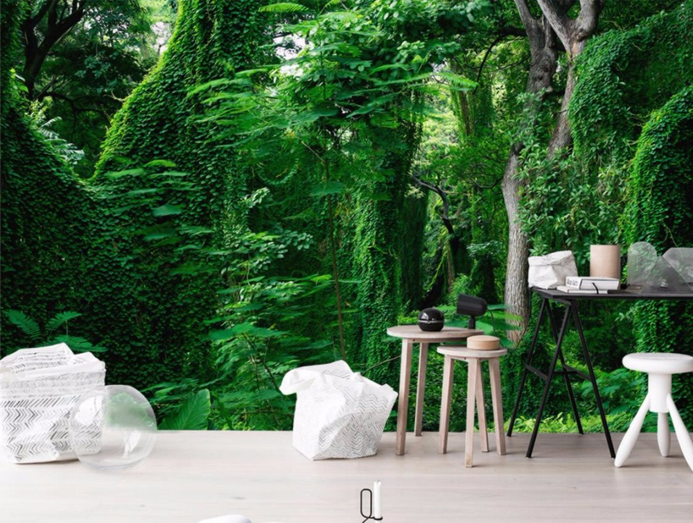 Modern Style 3D Wallpaper Murals Forest Landscape 3D Wall paper For Living Room Wallpaper For Walls 3 D Landscape