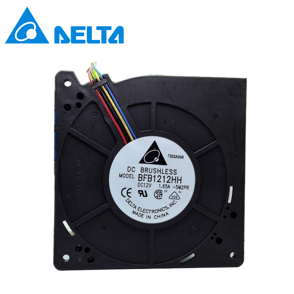 Delta Cooling fan For  BFB1212HH 5M2PR DC 12V 1.65A 4-wire 4-pin 110mm 120x120x32mm blower fan original delta cooling fan 9cm 9038 48v 0 26a pfb0948ehe three wire cooling fan