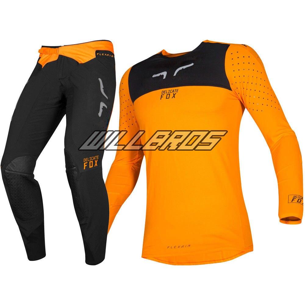 Motocross Racing 2019 Flexair Royl Jersey pantalon Mx tout-terrain Orange ensemble de vêtements pour hommes