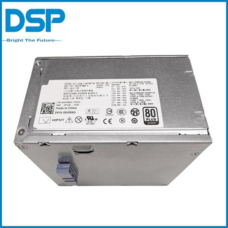 For DELL PRECISION T5500 ALIENWARE AURORA 875W PSU W299G N875EF 00 ...