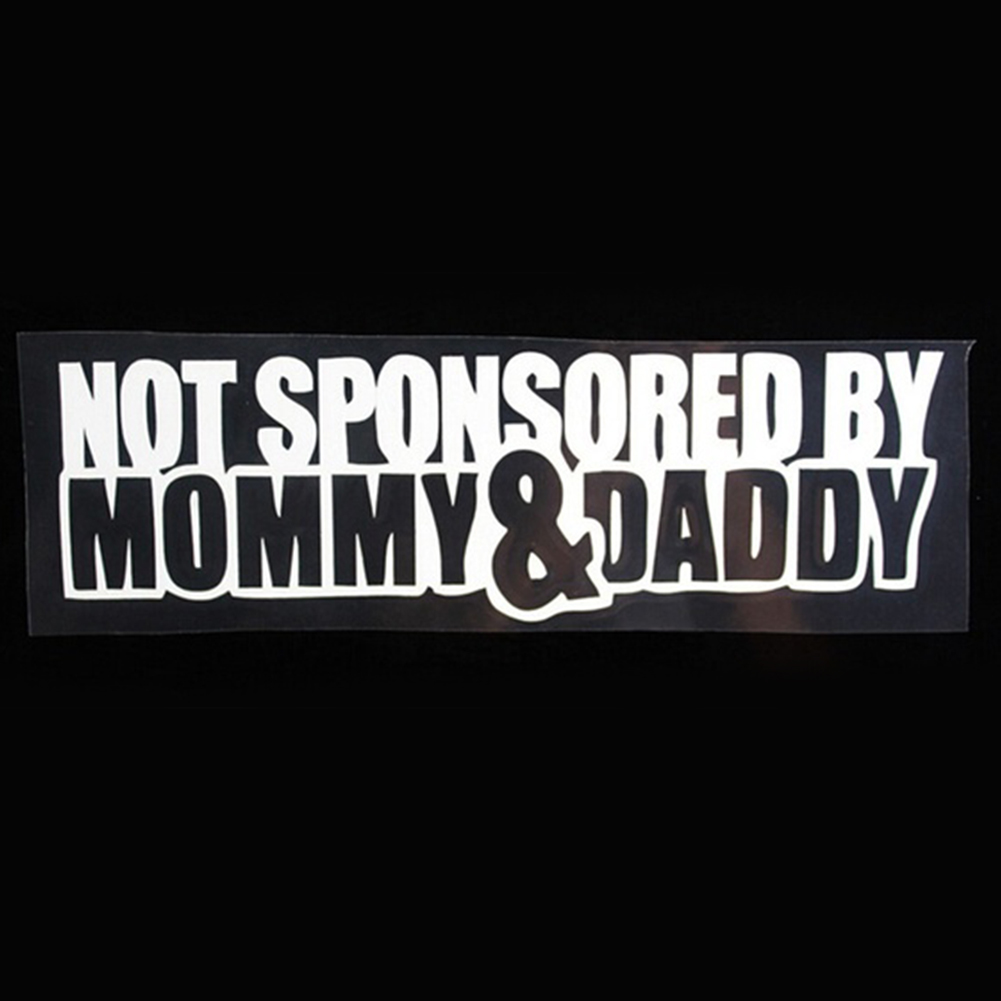 Not sponsored by mommy daddy car sticker funny sticker car window styling for cars funny jdm drift lowered car window in car stickers from automobiles