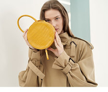 Crocodile Pattern Women Handbag Top Handle Small Round Bags Casual Shoulder Messenger Bag Crossbody for Clutch Purse