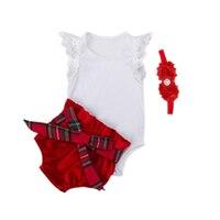 2017 Fashion Baby Clothing Sets Summer Baby Girls Clothes Infant Baby T Shirt Shorts Headband 3pcs