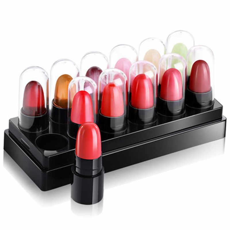 לטווח ארוך נשים יופי מט שפתון 12 צבעים עמיד למים לחות שפתון עירום מקל שפתיים ליפ גלוס maquiagem
