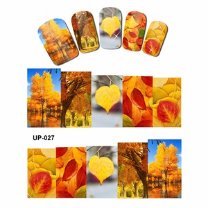 Image 5 - 12 PACK/ LOT  WATER DECAL NAIL ART NAIL STICKER SLIDER FULL COVER RED YELLOW MAPLE TREE AUTUMN FALLING LEAF LEAVES  UP25 36