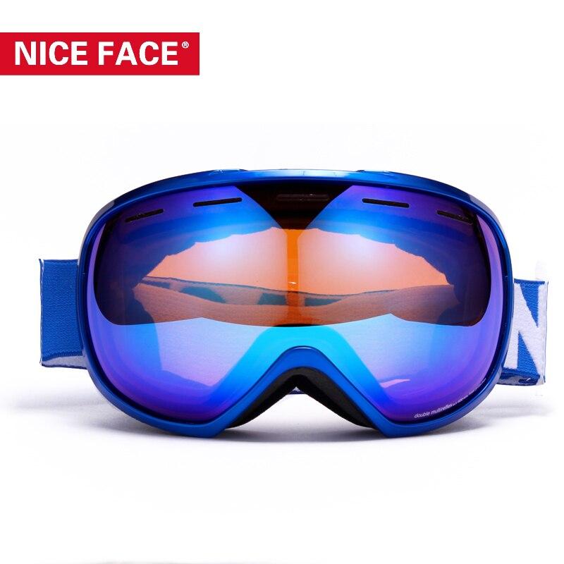 Prix pour 2017 NiceFace Ski Lunettes Grand Sphérique Motocross Lunettes Hommes Lunettes De Ski Les Femmes Snowboard Sport et Ski Lunettes NF143