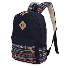 Leinwand Frauen Rucksack Mochila Escolar Teenager Rucksäcke Für Mädchen Mochila Feminina Feminine Rucksack Schule Gestreiften Damentaschen