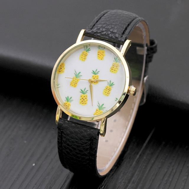 Hot Selling Kids Children's Watches Baby Boy Girl Fruit Cute Pineapple Student Casual Fashion Simple Sports Quartz Watches