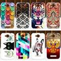 NOVO! case capa alcatel one touch pop c7 ot7040 7040d 7041d ot 7040, pintura colorida de volta protetor alcatel pop c7 case capa