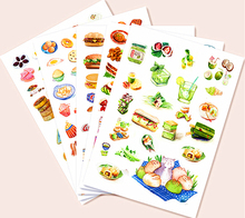 Food Collection Notebook Diary Hand Sticker IcecreamScrapbooking Stickers Decorative DIY Craft Photo