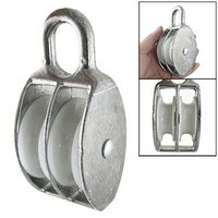 0 05 Ton High Load Double Sheave Fixed Eye Rope Pulley
