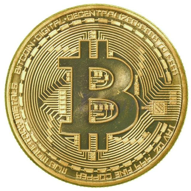 US $1 28 |Bitcoin Coin Gold Sliver Plated Collectible BTC Coins Art  Collection Gift New #20/12-in Non-currency Coins from Home & Garden on