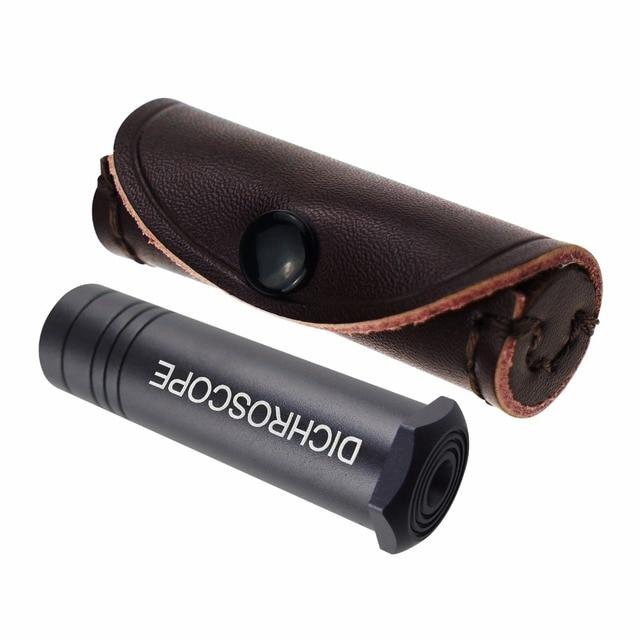 Handheld Heavy Duty Calcite Dichroscope, Trichoic Gem & Gemstones Gemological Testing, Jeweler Tool Metal Body 15mm Diameter