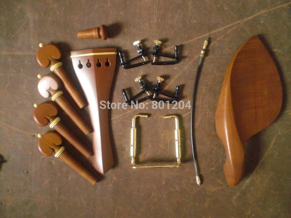1 Set JUJUBEWOOD Violin fitting with 4 pcs fine tuners and 1 pc violin tail gut & Chin rest screw All 4/4|fitting a reversing camera|violin childrenfitting compression - AliExpress