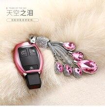 Remote Smart Soft TPU Car Key Case For Mercedes Benz W203 W210 W211 AMG C E S CLS CLK CLA SLK Key Bag Cover Holder keychain