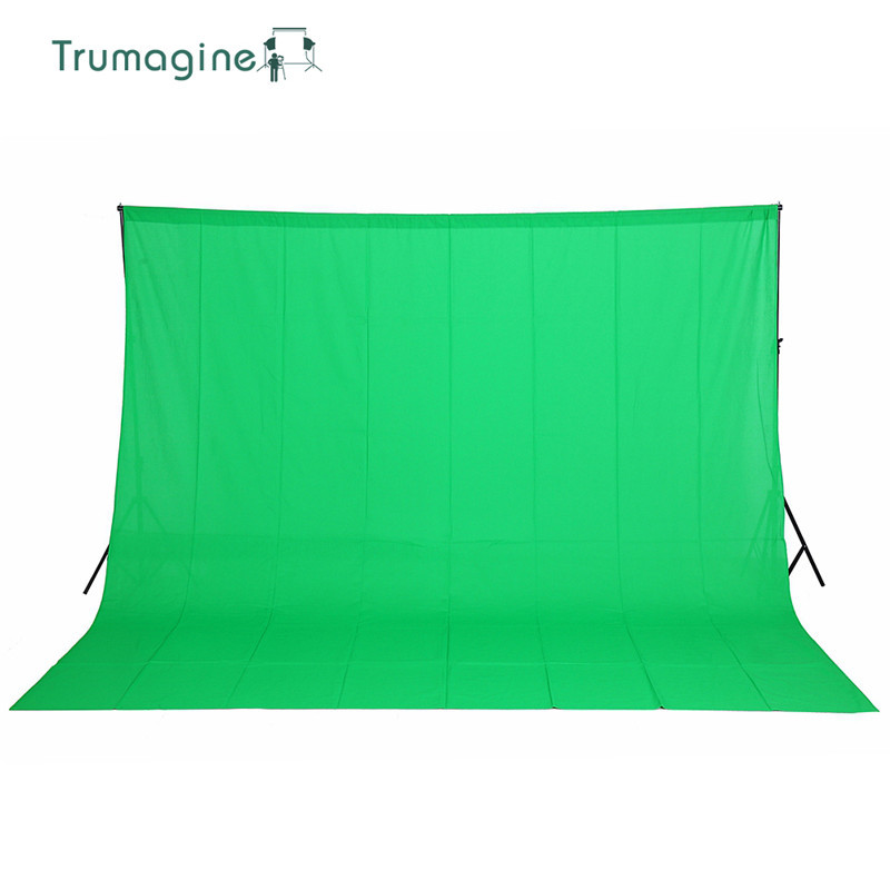 3x3M Green Photo Background Backdrop Photography Studio Green Screen Chroma Key Background Solid Color Cotton Muslin Background