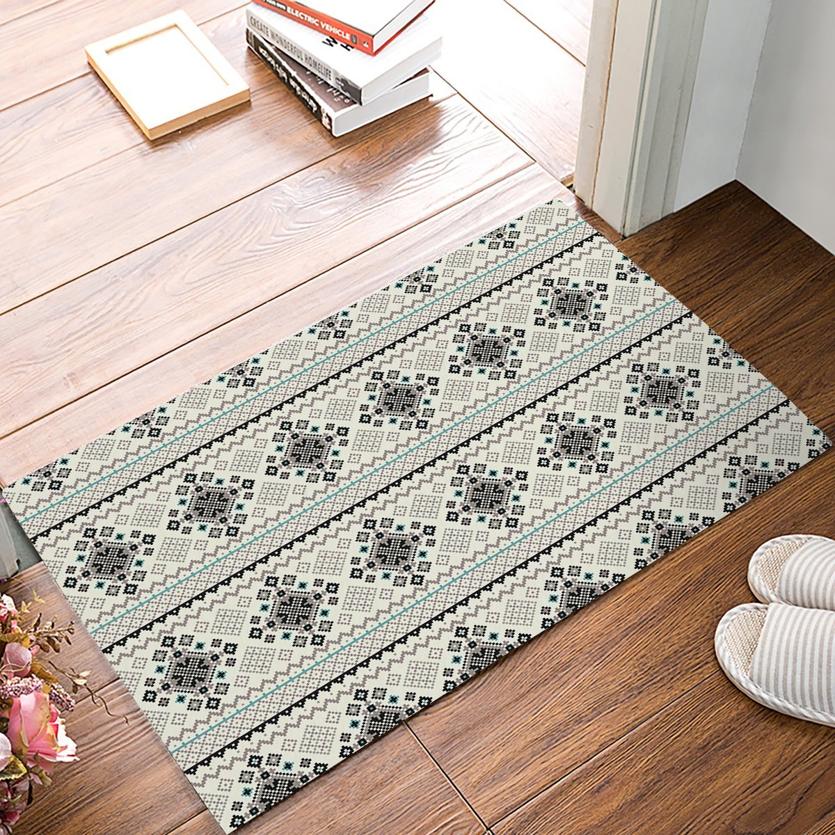 Vintage Bohemia Decorative Pattern Door Mats Kitchen Floor Bath Entrance Rug Mat Absorbent Indoor Bathroom Decor Doormats