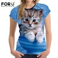 FORUDESIGNS-3D-Galaxy-Cat-Prints-Women-Summer-T-Shirt-Elastic-Woman-Tops-Fashion-T-shirt-For-Girls-Female-Tees-Brand-Clothes-2