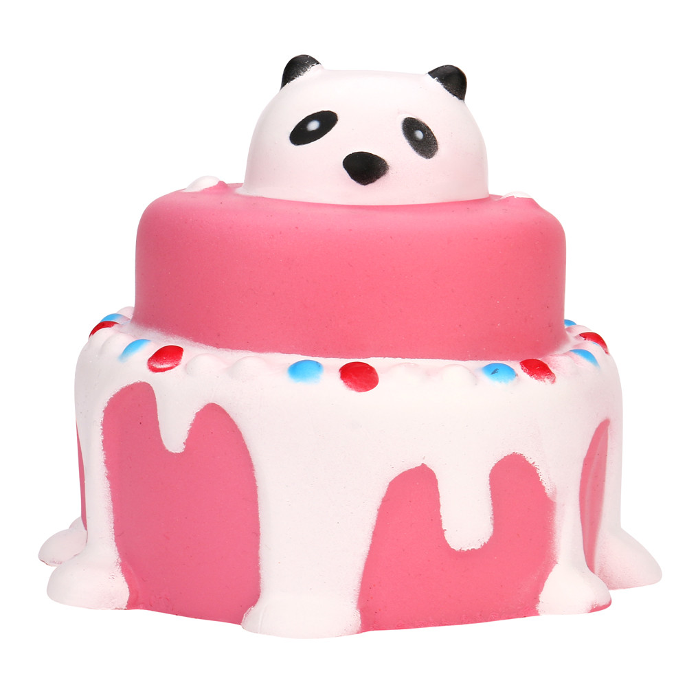 Squishy Antistress Cute Cake Squeeze Soft Toy Funny Panda Slow Rising Cream Stress Reliever Scented Decor Gadgets AP11f