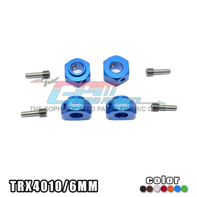 TRAXXAS TRX-4 TRX4 82056-4 Aluminum Alloy hex adpter 6mm thickness with stainless steel screw needle - set TRX4010/6MM