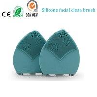 electric silicone facial exfoliators skin scrub skin care pore blackhead acne remover silicone face clean washing brush massager