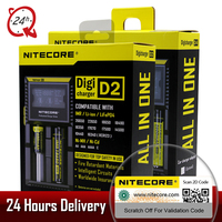 Brand Nitecore D2 D4 Digicharger LCD Intelligent Circuitry Li Ion For 26650 18650 18350 16340 14500