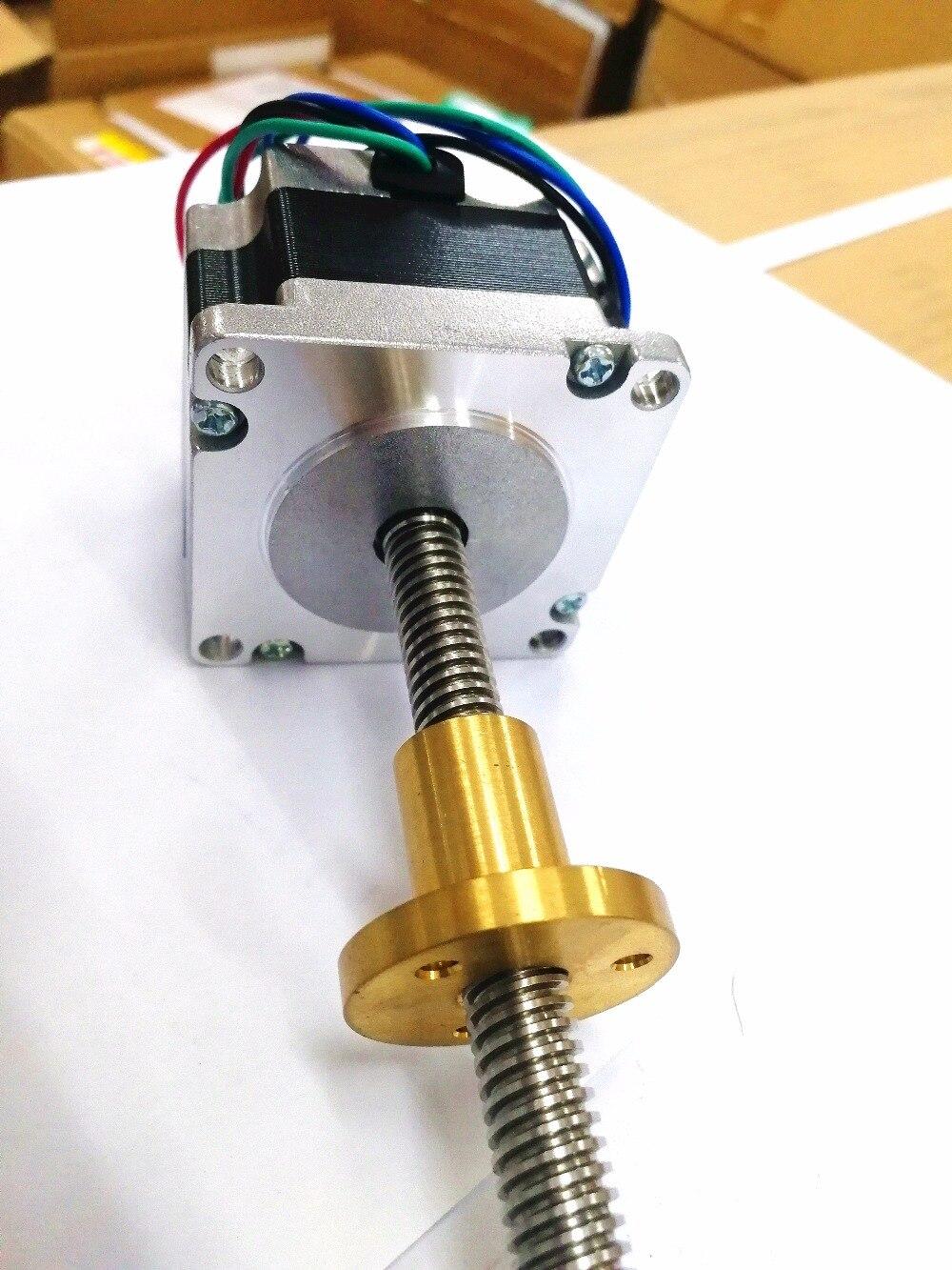 Рекомендуем! 1 шт. Nema 23 линейный шаговый двигатель 3A свинцовый винт Резьба 300 мм 0.6N.M Tr10* 4 мм 3D принтер ось Z длинный винт LONGS двигатель