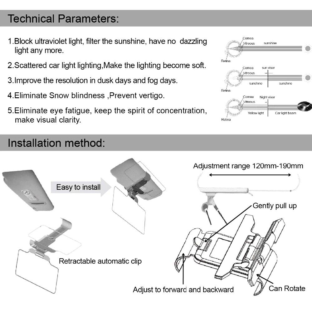 Otomatis Mobil Di Siang Harimalam Hari Anti Silau Matahari Kedok Hd Vision Vison 2 Kaca Sun Visor Auto Mempesona Malam Cermin Jelas Kacamata Interior Baik Untuk
