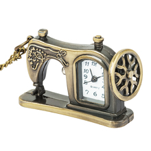 Perfect Gift Retro Antique Bronze Alloy Sewing Machines Pendant Pocket Watch Christmas Gift Dropship Vintage Chain Retro цена