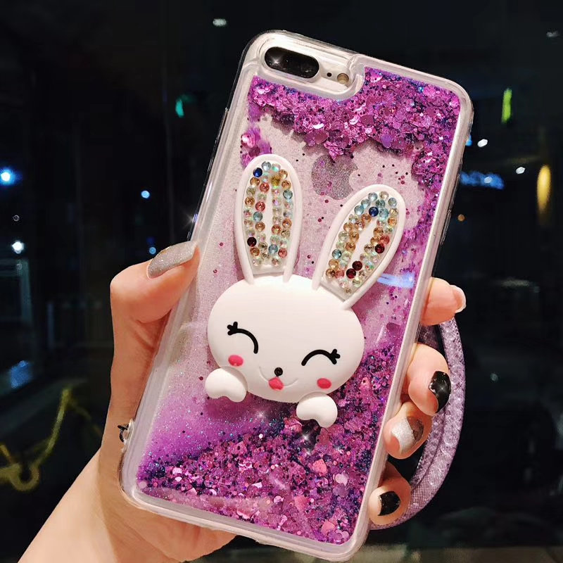 Temperate Case For Mate10 Lite Pro Nova 2 Plus Nova3 Capa Luxury Cute Bunny Kickstand Quicksand Coque Transparent Phone Case Fundas Cover Rhinestone Cases