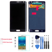 100% Test LCD Display Touch Screen Digitizer For Samsung Galaxy Note Edge N9150 N915F Black With Free Tools + Tempered Glass