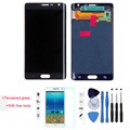 Teste de 100% display lcd de toque digitador da tela para samsung galaxy nota N9150 Borda N915F Preto Com Ferramentas Livres + Temperado vidro