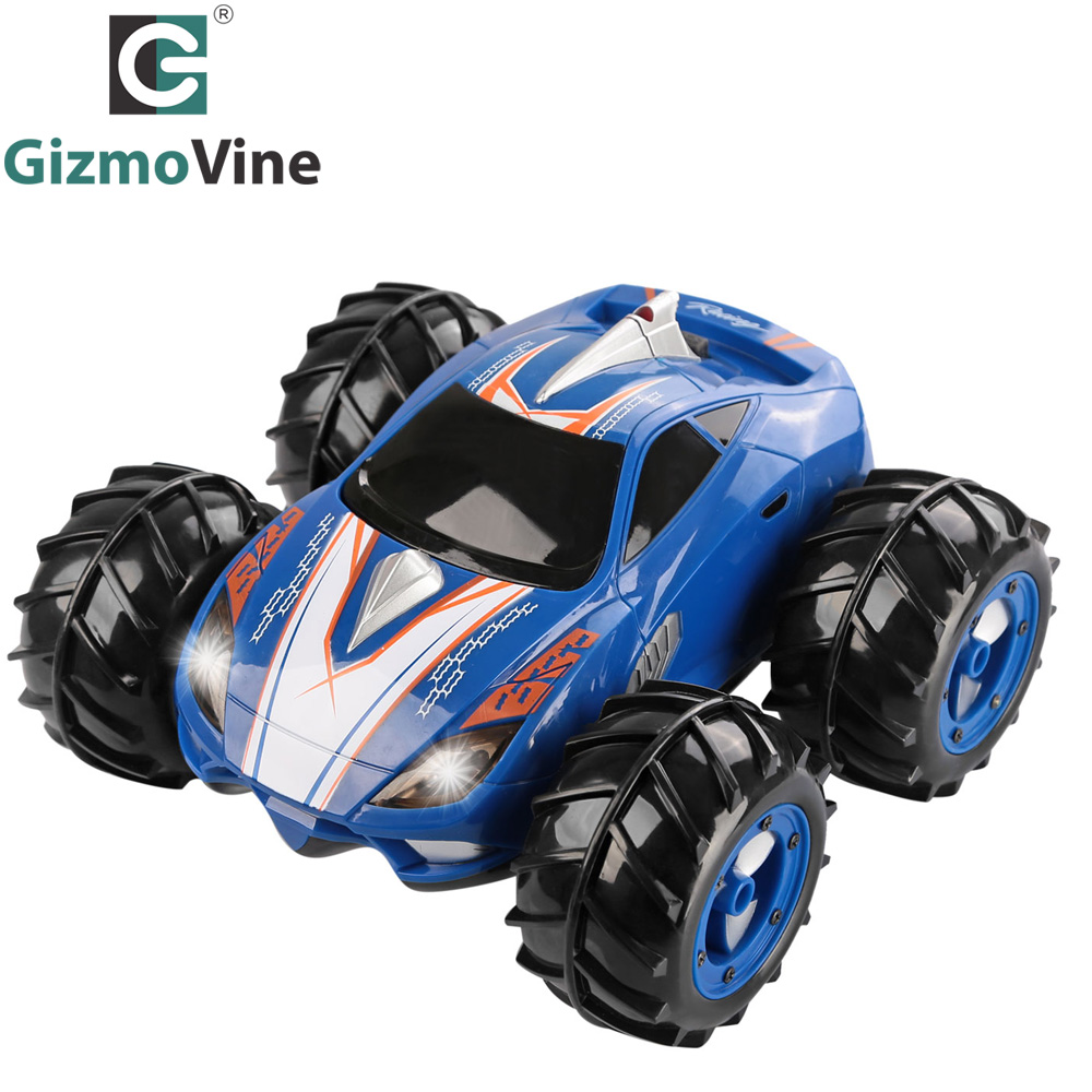 GizmoVine RC Car Powerful Amphibious vehicle Drives on Land & Water RC Car Control Range 360 Degree Spins LED Headlights