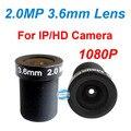 2.0MP 3.6mm lente da câmera CCTV IR lente M12 lente de Correção para instalar o sistema de CCTV câmera de segurança CCD CMOS câmera IP free system navio