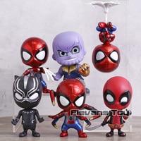 Avengers Infinity War Thanos Black Panther Spiderman Iron Spider Deadpool PVC Figures Toys Car Decoration Dolls Gift 6pcs/set