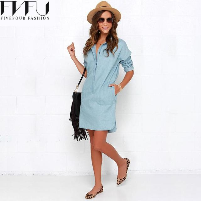 2018 New Style Summer Dress Women Autumn Plus Size Xxl Elegant Blue