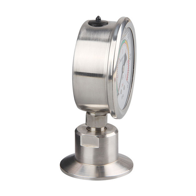 Bar/psi 1.5 inch (50.5mm) Tri Clamp Diaphragm Pressure Gauge SS304 Stainless Steel 1 5 inch tri clamp radial bimetal thermometer stainless steel 100c 200f degree