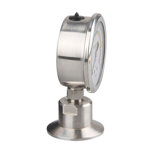 Image 2 - Manometer Bar/psi 1.5 inch (50.5mm) Tri Clamp Diaphragm Pressure Gauge SS304 Stainless Steel Body SS316 Diaphragm