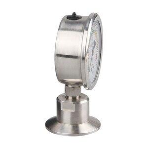 Image 2 - Manometro Bar/psi 1.5 pollici (50.5 millimetri) tri Morsetto di Pressione A Membrana Gauge SS304 Corpo In Acciaio Inox SS316 A Membrana