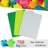 32*24 Big Dots Baseplate for Large Building Block compatible Duplo DIY Base Plate MOC Loose Brick 51.2*38.4cm