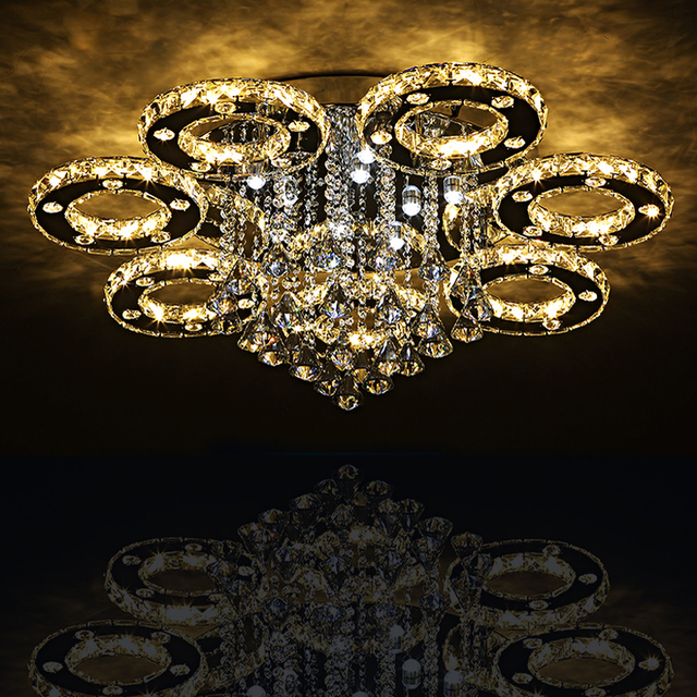 Modern Led Crystal Ceiling Lights For Living Room luminarias para sala Ceiling Fixtures Bedroom lighting With Remote Control