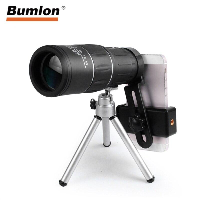 16X52 Monocular HD Teleskop Dual Mit Schwerpunkt Einstellung Fernglas Spektiv für Jagd Camping Beobachtung Vogel RL38-0007