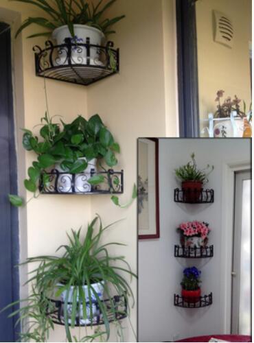 vaso de orqu dea pendurado paredes paredes de ferro prateleira de canto canto prateleiras. Black Bedroom Furniture Sets. Home Design Ideas