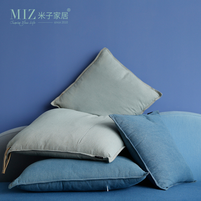 Miz 1 Piece Denim Cushion Modern Home Textile Pillows With Handle Home  Decoration Accessories Living Room