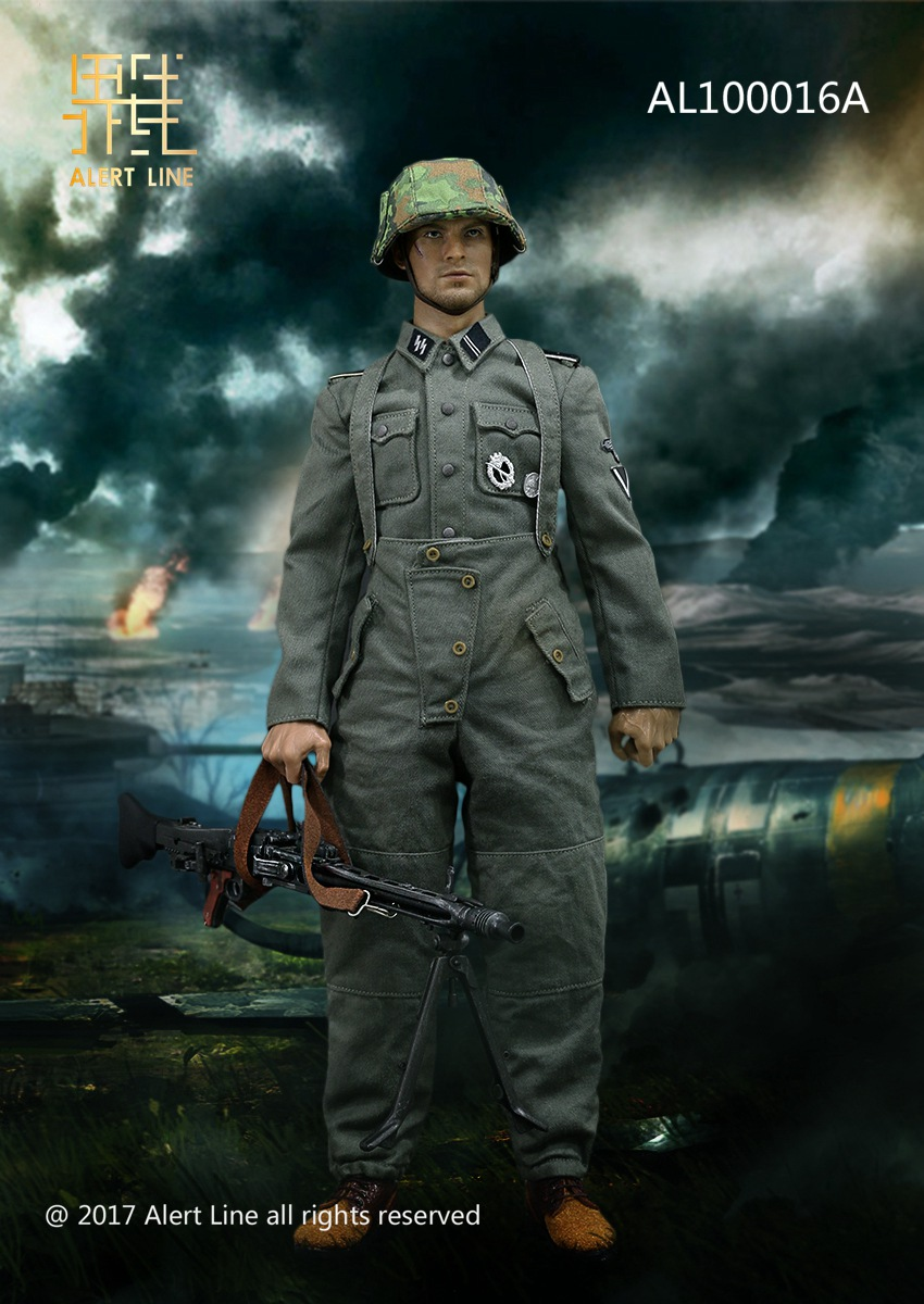 Alert Line AL100016A WWII Germany SS MG42 Machine Gunner Set 1/6 (NO BODY & HEAD)