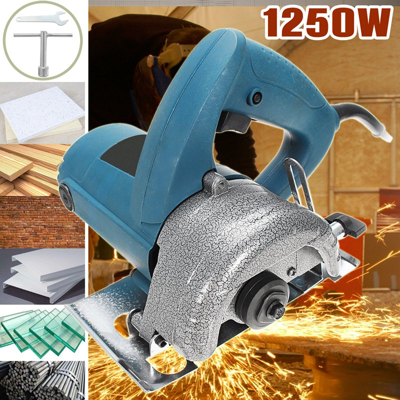 220v 1250w Hand Electric Marble Saw Cutter Stone Grooving Glass