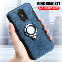 hot deal buy for lg q7 q7+ luxury hard case for lg q7 plus phone case back cover silicone case for lg q7 coque finger ring stand shell fundas