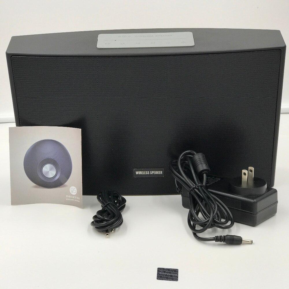 Klassische Drahtlose Lautsprecher Bluetooth Lautsprecher Super Bass LED Zeit 15W X 2 Surround Sound Hohe Qualität Mit Aux