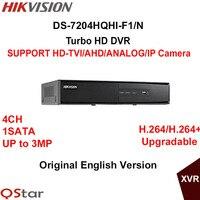 Hikvision Original English Version DS 7204HQHI F1 N Turbo HD DVR SUPPORT HD TVI AHD Analog